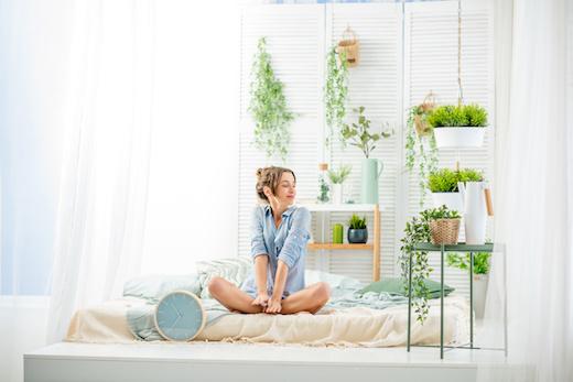 Woman-plant
