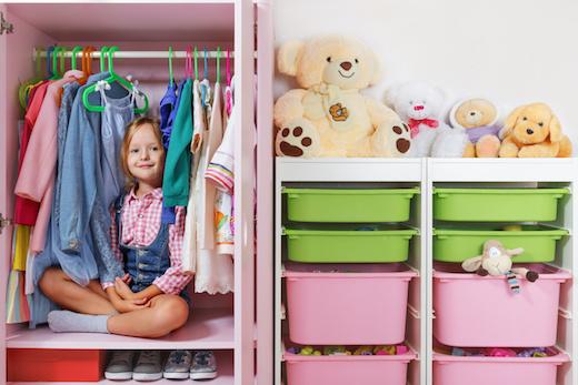 Come organizzare armadio bimbi